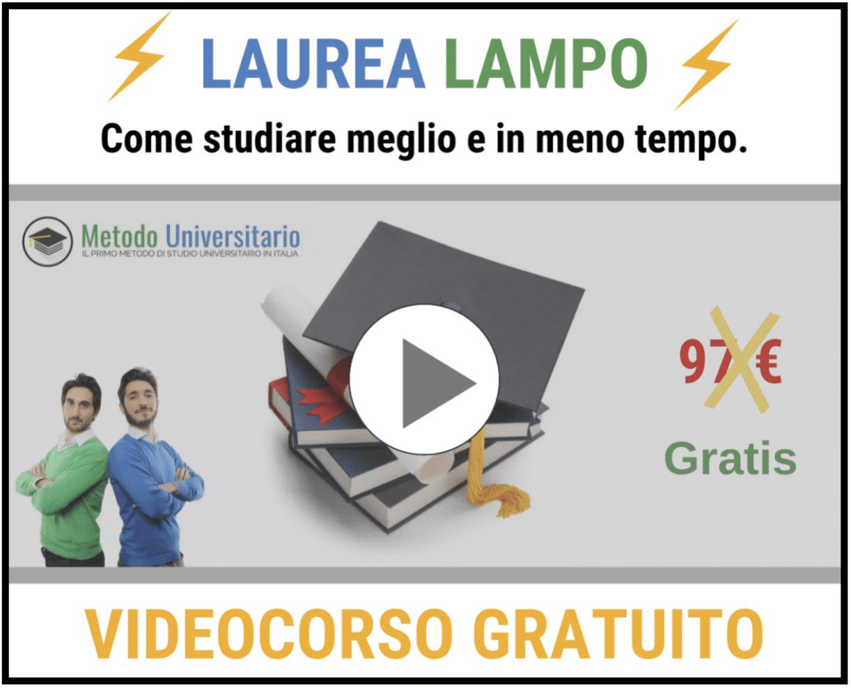 laurea lampo - Metodo di Studio Universitario: La Formula per il 30 e lode