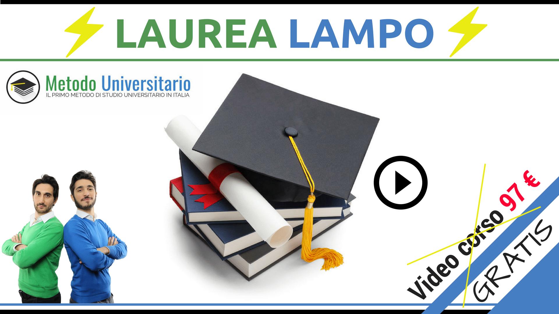 LAUREA LAMPO 2 - Metodo Universitario: tutto quello che devi sapere