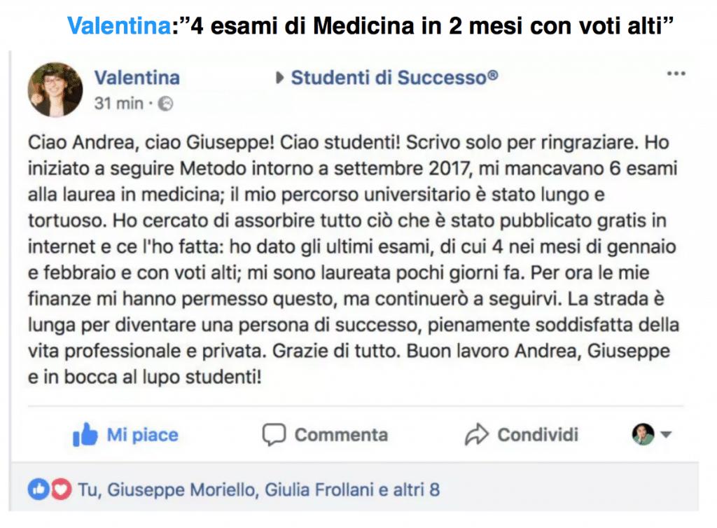 Metodo Universitario - 4 esami di medicina in 2 mesi con voti alti - laurea lampo