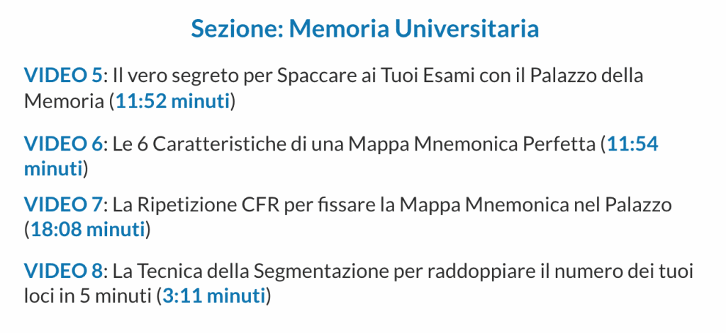 Laurea Facile Memoria Universitaria